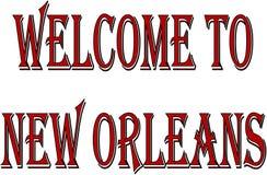 Добро пожаловать к иллюстрации текста Нового Орлеана Стоковые Фотографии RF