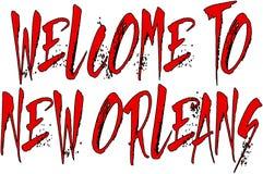 Добро пожаловать к иллюстрации текста Нового Орлеана Стоковая Фотография