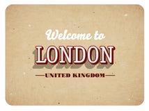 Добро пожаловать к Лондону иллюстрация штока