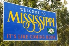 Добро пожаловать к Миссисипи Стоковое Изображение