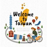Добро пожаловать к Тайваню Стоковые Фото