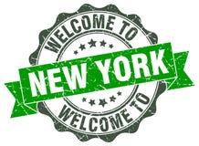 Добро пожаловать к уплотнению Нью-Йорка бесплатная иллюстрация