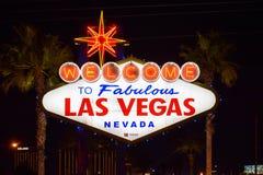 Добро пожаловать к фантастическому знаку Лас-Вегас Невады стоковое изображение rf
