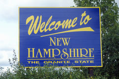 Добро пожаловать к New Hampshire Стоковое Изображение