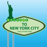 Добро пожаловать к New York иллюстрация штока