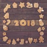 Добро пожаловать новое 2018 Стоковое Изображение