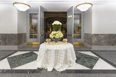 Добро пожаловать таблица венчания Стоковое фото RF