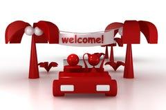 Добро пожаловать! Стоковые Изображения RF