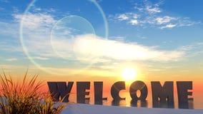 Добро пожаловать в лете Стоковые Фотографии RF