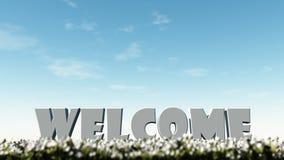 Добро пожаловать в лете Стоковые Фото