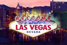 Добро пожаловать в Лас-Вегас стоковое фото