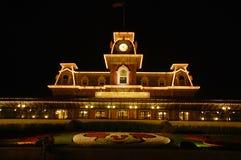 Добро пожаловать замок на ноче Стоковые Фото