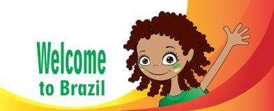 Добро пожаловать к Бразилии иллюстрация вектора