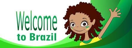 Добро пожаловать к Бразилии иллюстрация штока