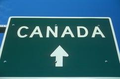 Добро пожаловать к знаку Канады стоковое фото rf