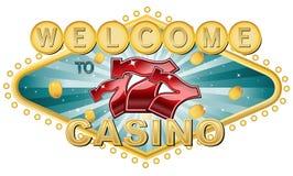 Добро пожаловать к казино Стоковые Фото