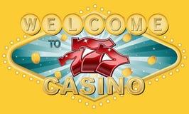 Добро пожаловать к казино Стоковая Фотография RF