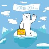 Добро пожаловать к северному полюсу Стоковое Изображение RF
