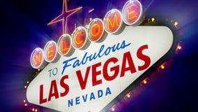 Добро пожаловать к фантастичному знаку Лас-Вегас Невады (Loopable) видеоматериал