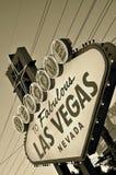 Добро пожаловать к фантастичному Лас-Вегас (ретро стиль) Стоковое Фото