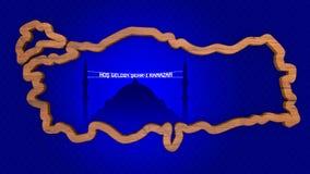 Добро пожаловать месяц Рамазана пишет и символ карты Турции Стоковое фото RF