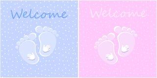 Добро пожаловать младенец новорожденного Стоковые Изображения RF
