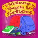 Добро пожаловать назад к scholl Стоковая Фотография RF