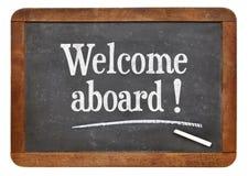 Добро пожаловать на борту знака классн классного Стоковые Изображения
