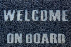 Добро пожаловать на борту Стоковая Фотография