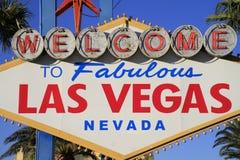 Добро пожаловать никогда, который нужно не спать город Лас-Вегас, Америка, США Стоковые Изображения