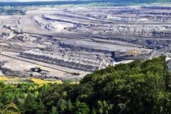 добыча угля бросания коричневого цвета открытая Стоковое Изображение