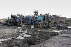 Добыча угля и обрабатывать в Южной Африке стоковая фотография