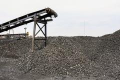 Добыча угля и обрабатывать в Южной Африке стоковое фото