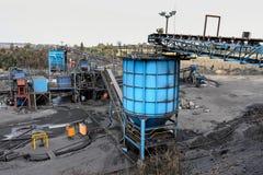 Добыча угля и обрабатывать в Южной Африке стоковые фото
