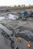 Добыча угля и обрабатывать в Южной Африке стоковое изображение