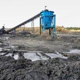 Добыча угля и обрабатывать в Южной Африке стоковые изображения