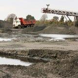 Добыча угля и обрабатывать в Южной Африке стоковое фото rf