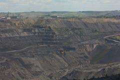 Добыча угля в открытом пути стоковая фотография rf