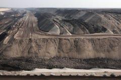 Добыча угля открытого карьера около Котбуса, Бранденбурга, Германии Стоковое фото RF
