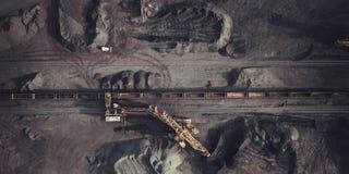 Добыча угля сверху Стоковое Изображение