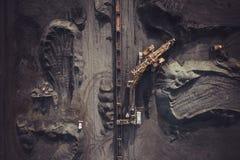 Добыча угля сверху Стоковые Изображения RF