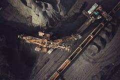 Добыча угля сверху Стоковая Фотография RF