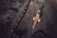 Добыча угля сверху Стоковые Изображения