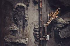 Добыча угля сверху Стоковое фото RF