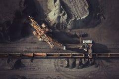Добыча угля сверху Стоковые Фото