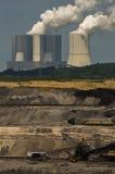 Добыча угля Schleenhain Брайна, Германия Стоковая Фотография RF