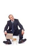 доведенный до банкротства бизнесмен Стоковое Фото