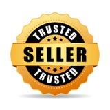 Доверенный значок вектора золота продавца Стоковое Изображение RF