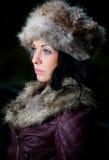 Довольно молодая женщина outdoors Стоковое Изображение
