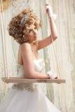 Довольно молодая невеста стоковое изображение rf